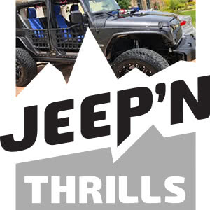 jeep'n thrills logo with image embedded
